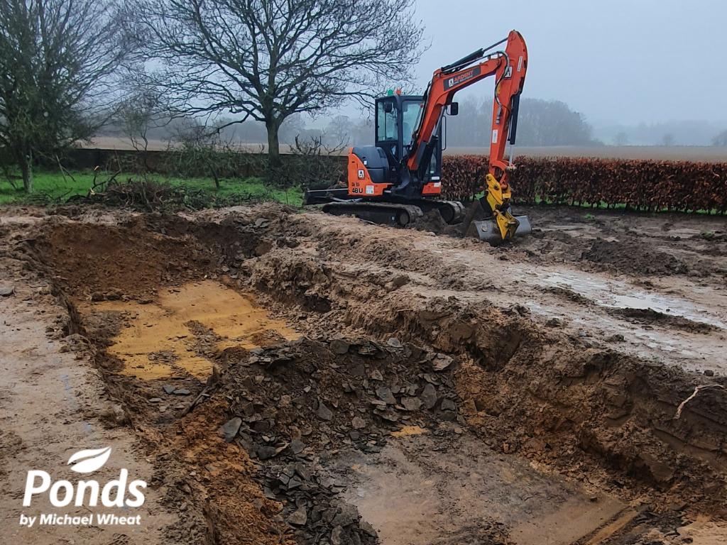 Swimpond Project - Suffolk - Ground Being Broken On-Site
