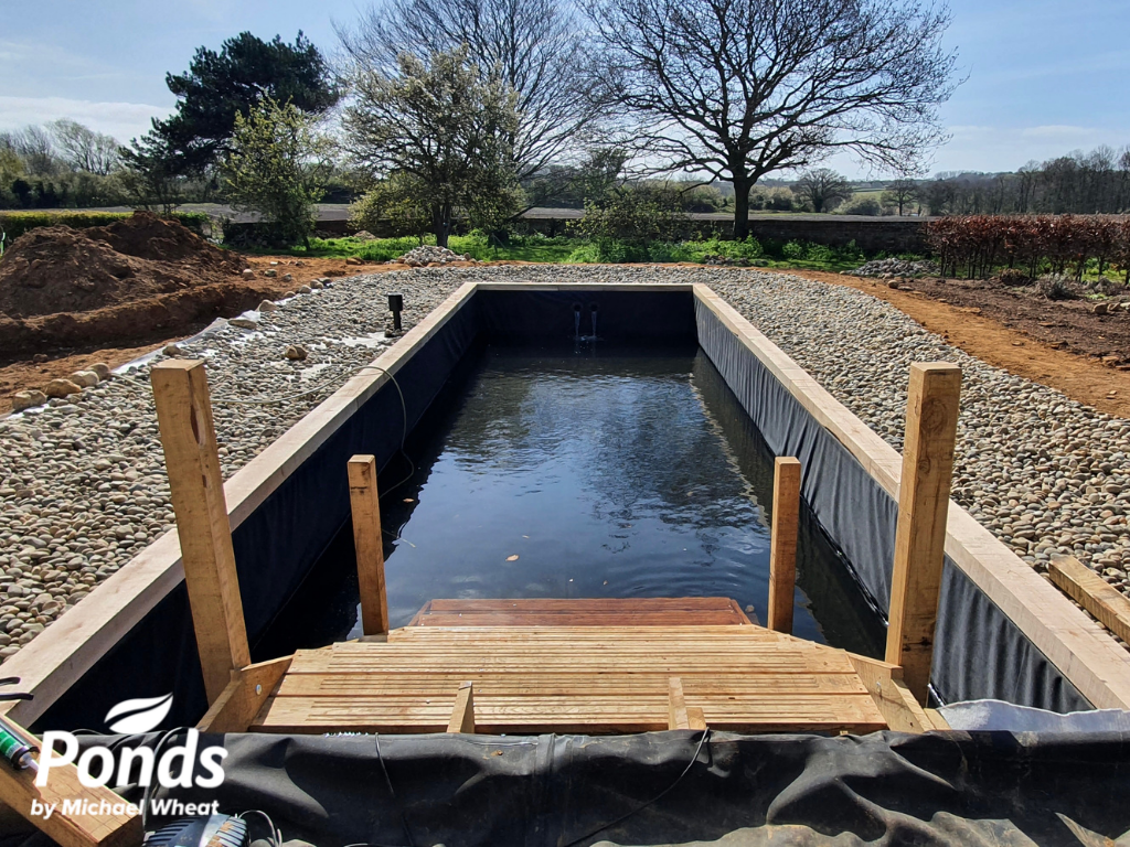 Swimpond Project - Suffolk - The Pond, With Steps, Being Filled