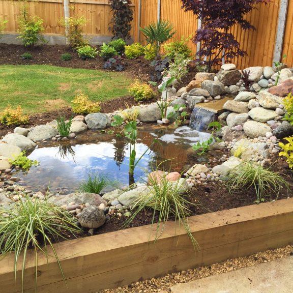 Fish pond build
