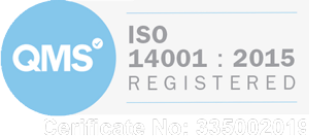 QMS ISO 14001 2015 Registered Certificate Number 335002019