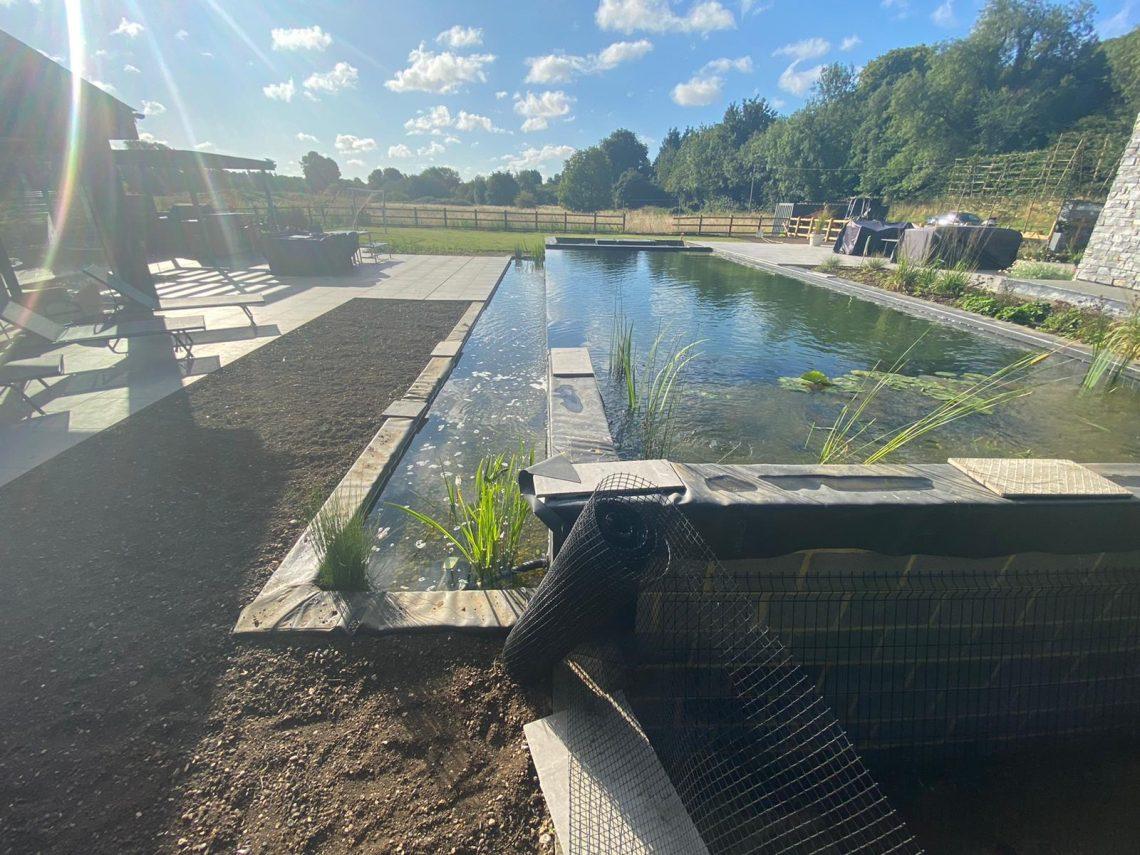 Completed swim pond