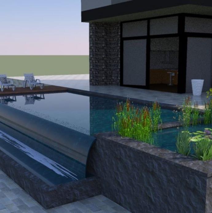 render of a swim pond