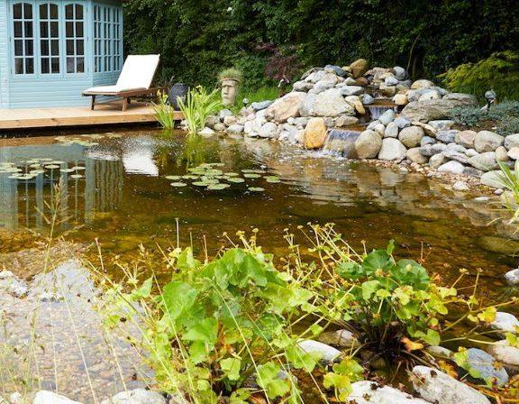 self-build swim pond